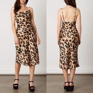Dresses & Skirts - 🔥Venice Leopard Print Satin Slip Dress,S-XL